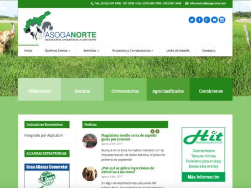 Página Web Asoganorte