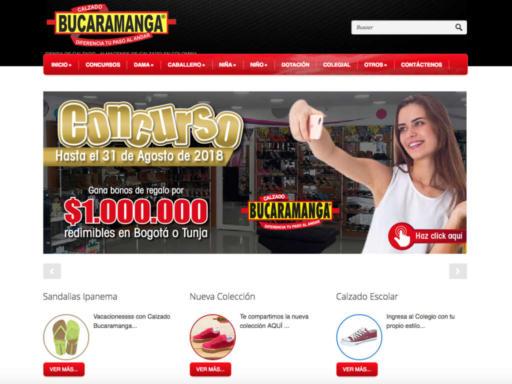 Página web calzado bucaramanga