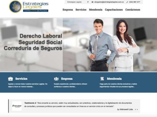 Página web Estrategias Legales