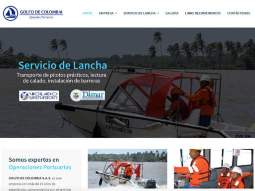 Página web Golfo de Colombia