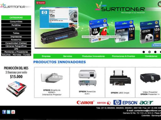 Página web Surtitoner - HTML