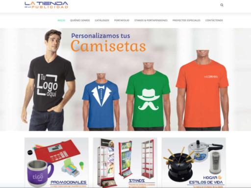 Página web tienda de la publicidad